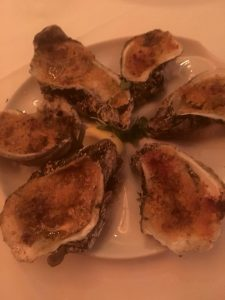 Photo of Roasted Oysters with Chili Butter at Brennen's Restaurant, New Orleans.
