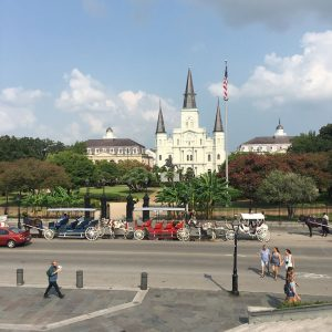 View of St. Louis Cathedral, New Orleans.