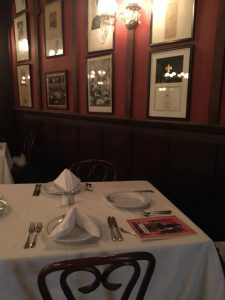 Photo of table at Antoine's Restaurant New Orleans.