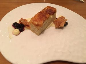Photo of Bread Pudding with Creme Brule Topping at R'evolution Restaurant in New Orleans.