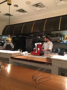 View of Chef's table at R'evolution Restaurant in New Orleans.