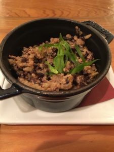 Photo of Dirty Rice at R'evolution Restaurant in New Orleans.