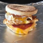 Photo of English Muffin Breakfast Sandwich.