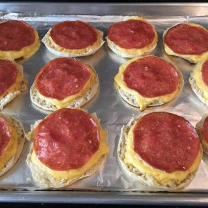 Photo of English Muffin Sandwiches after baking.