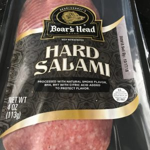 Photo of Boar's Head Brand Hard Salami.