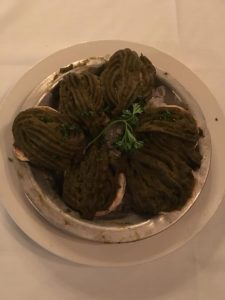 Photo of Oysters Rockefeller.