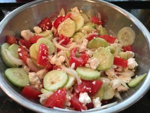 Photo of Greek salad.
