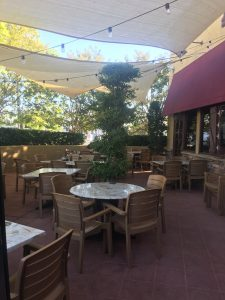 Photo of outdoor seating at Tutto Fresco.