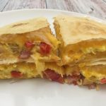 Photo of the breakfast quesadilla.