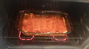 Photo of Enchiladas baking without cheese.