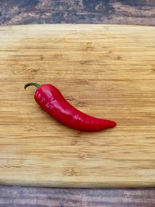 Photo of red jalapeno.
