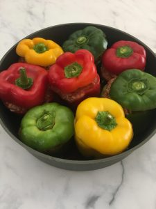 Photo of Stuffed Peppers pre baking.