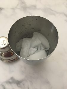 Photo of a Cocktail Shaker with Ice.