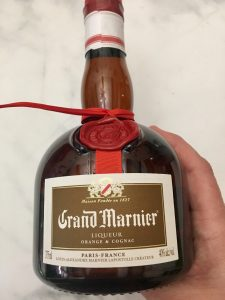 Photo of Grand Marnier used in the Cosmopolitan Drink.