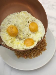 Photo of eggs and rice.