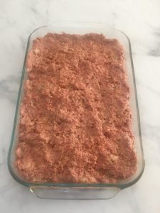 Photo of unbaked meatloaf.