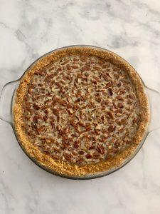 Photo of Pecan Pie before baking.