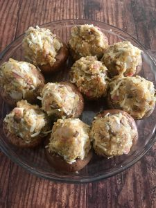Photo of Stuffed Mushrooms before baking.