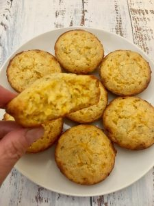 Photo of cheddar cheese muffins.