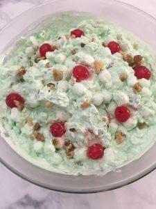Photo of Lime Jello Fluff Salad.