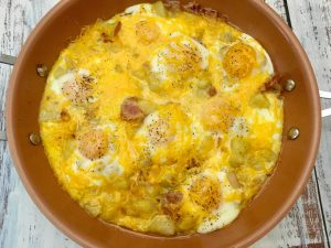 Photo of The Potato, Bacon, and Egg Breakfast Skillet.