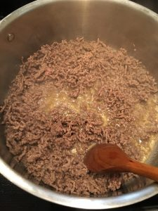 Photo of cooking ground beef.