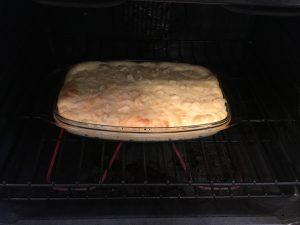 Cauliflower Casserole baking away.