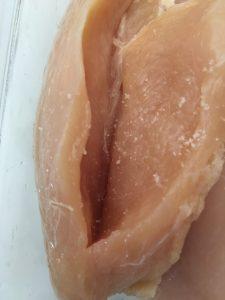Make a pocket in each chicken breast.