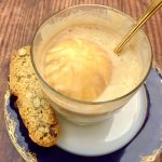 Affogato Coffee with Amaretto.