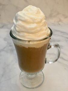 Top the Irish Cream Coffee with Whipped Cream.