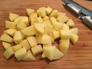 Chopped Yukon Gold Potatoes.