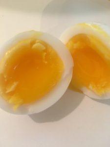 Medium hard boiled eggs.