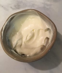 Mayo in a small bowl.