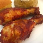 BBQ Chicken Drumsticks with Homemade BBQ Sauce.