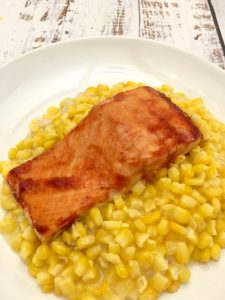 BBQ Salmon with Corn.