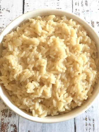 Fluffy White Rice with Flavor.