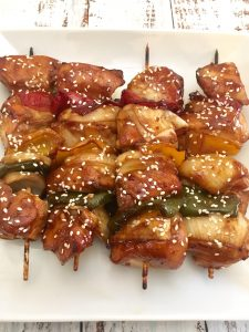 Teriyaki Chicken Skewers.