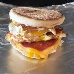 Photo of English Muffin Breakfast Sandwich.