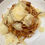 Photo of Spaghetti with Bolognese Meat Sauce.