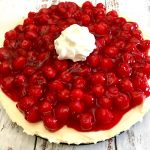 No Bake Cheesecake with Cherry Topping.